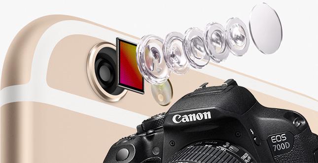 iPhone 6 Plus und Canon EOS 700D (Spiegelreflex / DSLR) im Vergleich