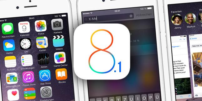 iOS 8.1 Download ab Montag & viele Verbesserungen