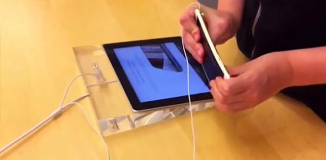 Zwei Schwachköpfe verbiegen iPhone 6 Plus im Apple Store