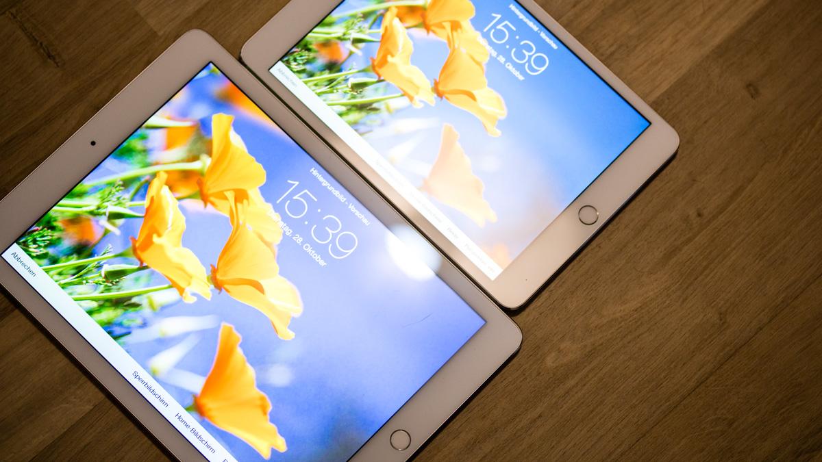 Unser Lieblingsfeature: Der enorm entspiegelte Screen des iPad Air 2