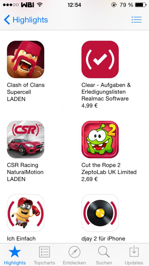 Apps für RED
