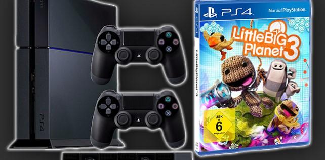 Knaller: PS4 inkl. PS4 Kamera, LittleBigPlanet 3 & 2 Controller