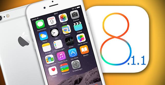 iOS 8.1.1 ist da! Das ist neu & Vorsicht!