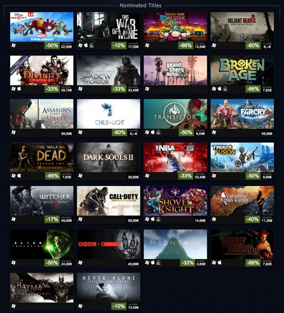 Steam VGA 2014 Deals