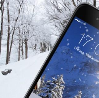 Es weihnachtet sehr auf dem iPhone: Snoverlay