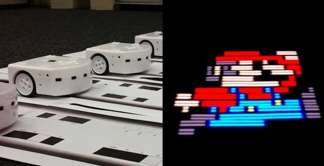 Lichtgemälde per Roboter: Thymio