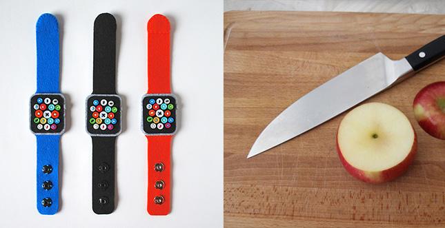 Handgemachte Apple Watch: LEGO, Apfel, Filz und PCB