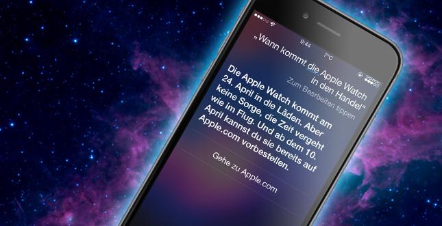Siri hat etwas zur Apple Watch zu sagen