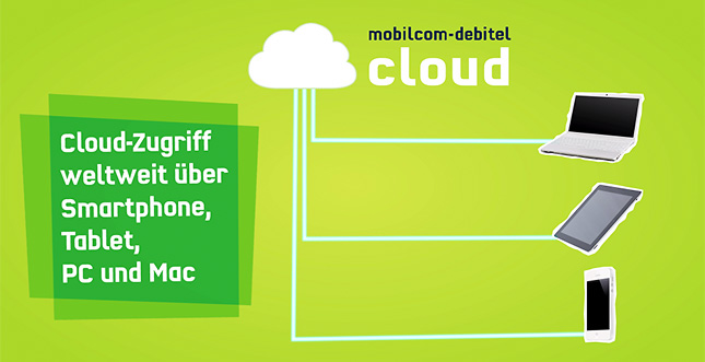 iCloud und Dropbox Alternative: Die Mobilcom-Debitel Cloud
