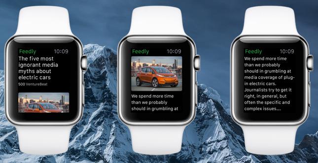 Feedly auf der Apple Watch: Erste Vorschau auf das Design
