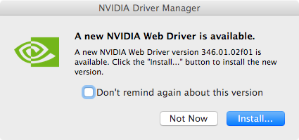 NVIDIA Web Driver GTX 970