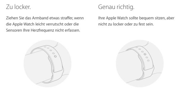 Apple Watch richtig tragen