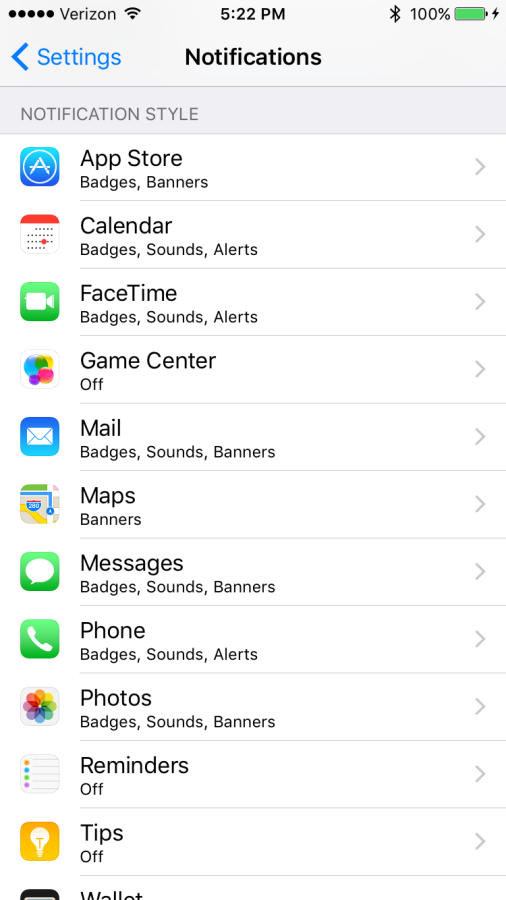 iOS 9 Screenshots