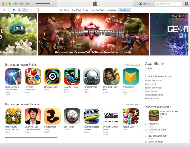 """App Store in """"handverlesen"""""""