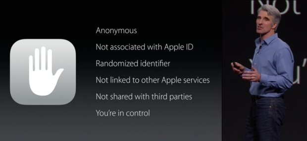 "iOS 9 ""Intelligence"" Privatsphäre"