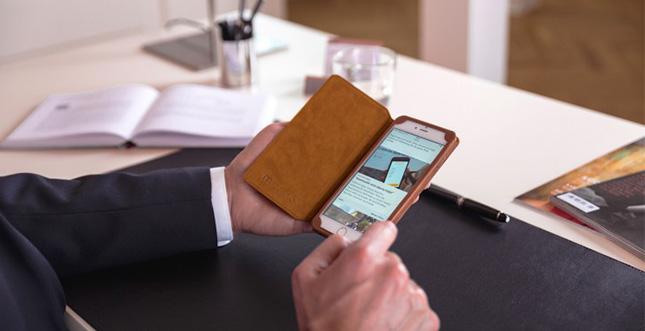 iPhone 6s & iPad Air 2: Macoon Echtleder Case zum halben Preis!