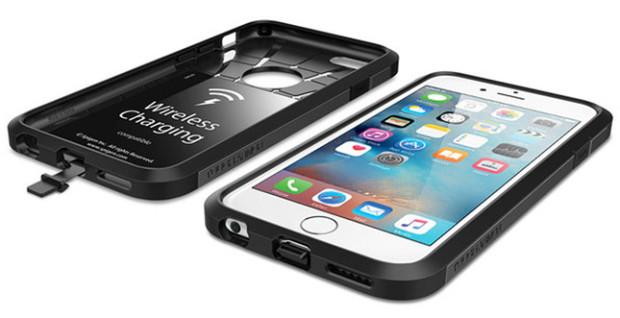 iphone 6s 6 akku drahtlos laden qi f higes case l weblogit. Black Bedroom Furniture Sets. Home Design Ideas