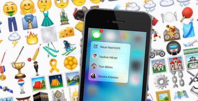Viele neue Emojis in iOS 9.1: Mittelfinger, Schampus & mehr