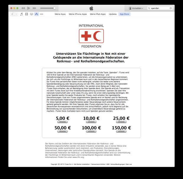 iTunes-Spendensammlung