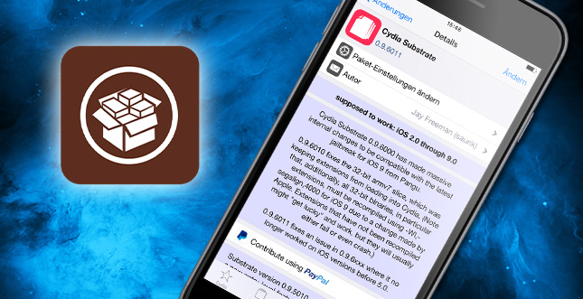 Cydia Substrate erhält wichtiges Update für iOS 9