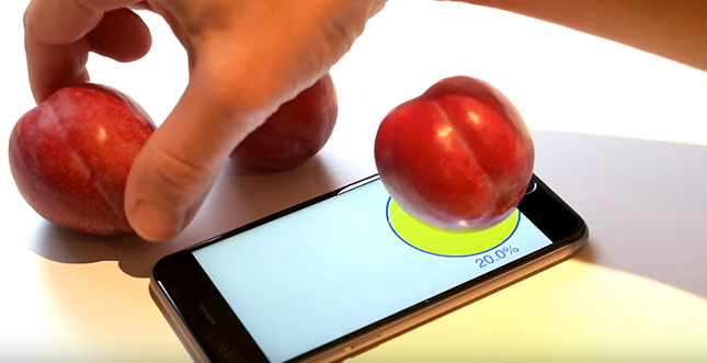 Plum-O-Meter: iPhone 6s als Waage benutzen