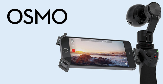 DJI Osmo: stabilisierte 4K-Handkamera mit Gimbal