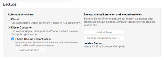 iTunes-Backup-iPhone-Passwort
