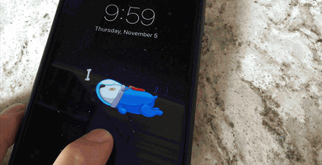 Space Dog: Cooles Live Wallpaper fürs iPhone 6s