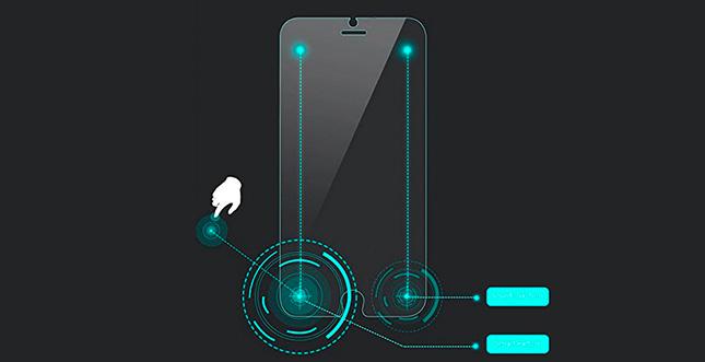 """iPhone-Schutzfolie mit """"Smart Touch"""""""