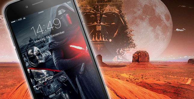 Star Wars Episode VII: Volle Ladung iPhone Wallpaper (Teil 1)