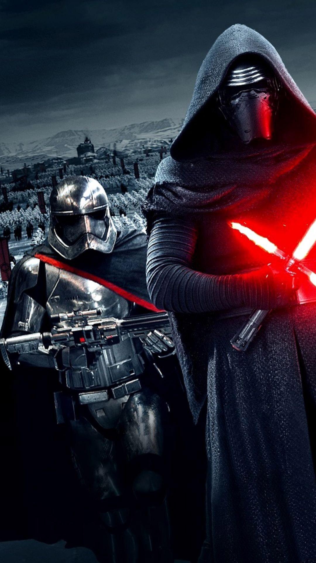 Star-Wars-The-Force-Awakens-Wallpaper-Kylo-Ren-Captain-Phasma