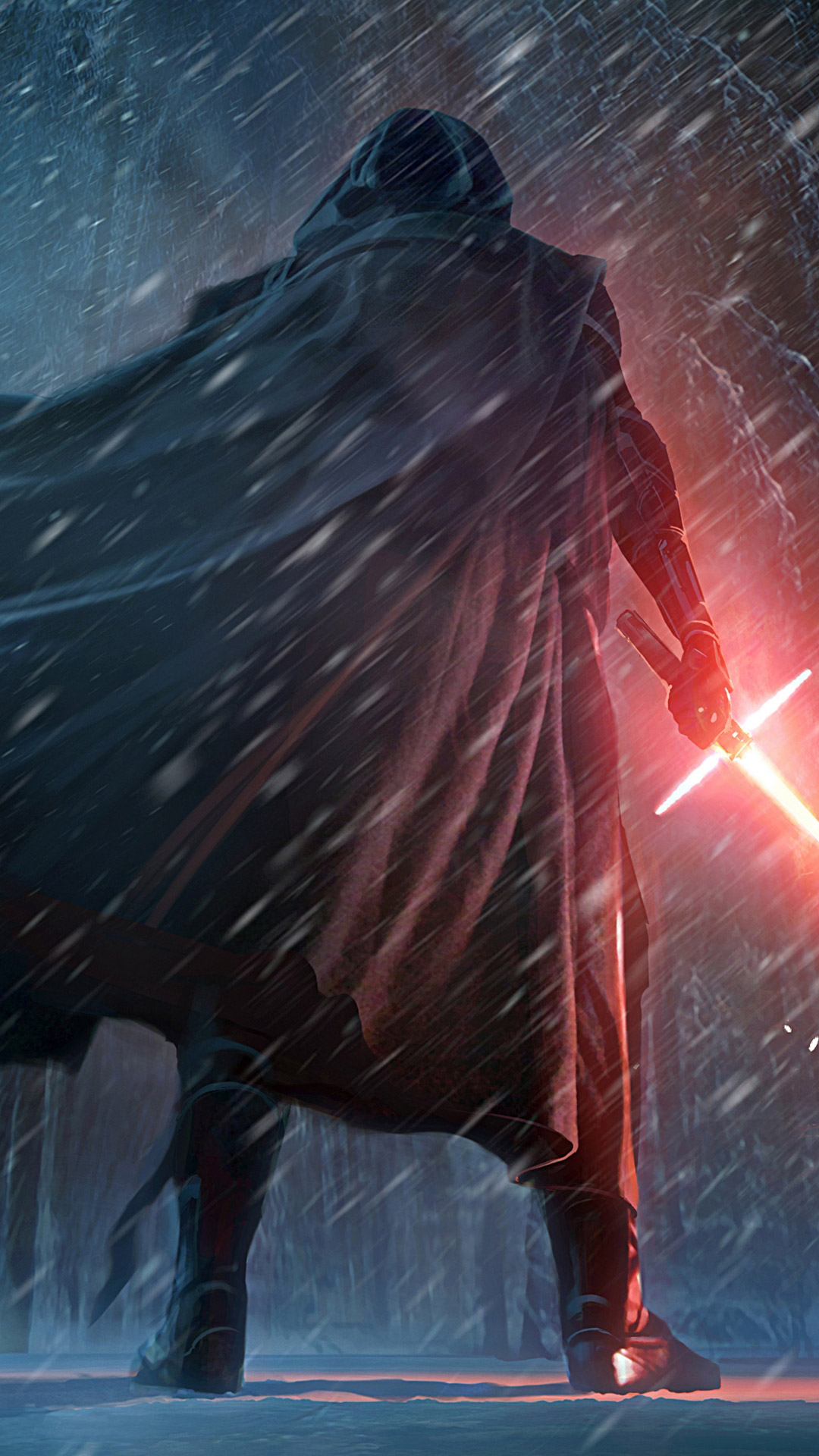 Star-Wars-The-Force-Awakens-Wallpaper-Kylo-Ren-Snow-Scene