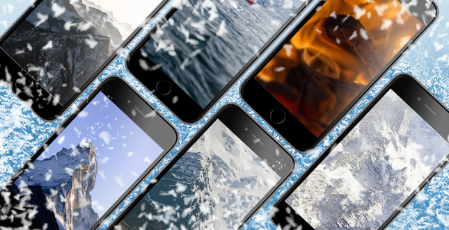 WBI iPhone-Wallpaper: Winter-Edition