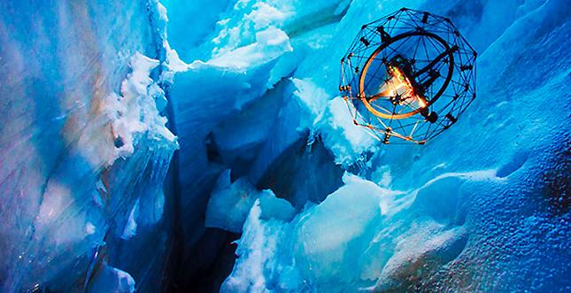 """Drohne """"Gimball"""" erkundet Gletscherspalten"""