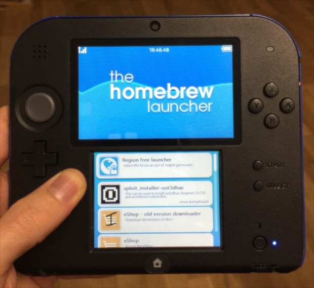 homebrew launcher 2ds