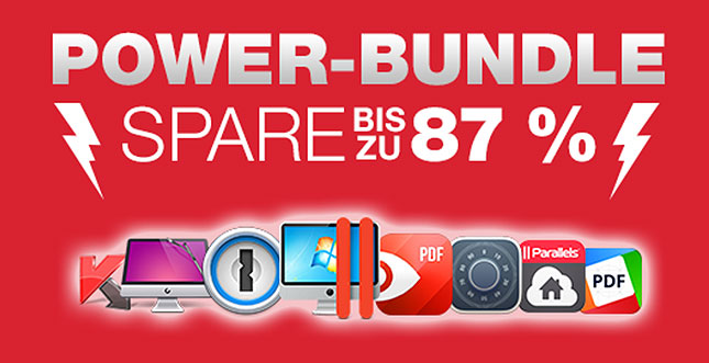 Mac-App-Bundle zum Sonderpreis: Parallels 11, 1Password & Co