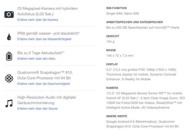 Sony-Xperia-Z5-Spezifikationen