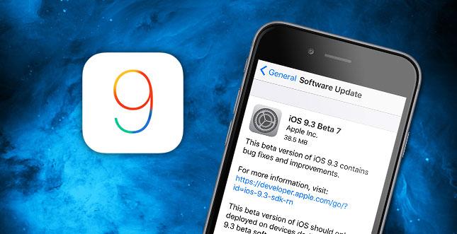 Apple verteilt iOS 9.3 Beta 7 an Entwickler & Beta-Tester