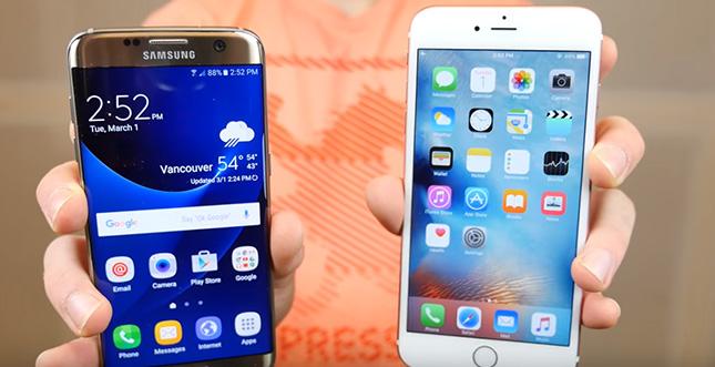 Droptest: Galaxy S7 Edge gegen iPhone 6s Plus (Video)