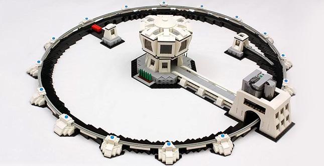 Funktionierender LEGO-Teilchenbeschleuniger: Video