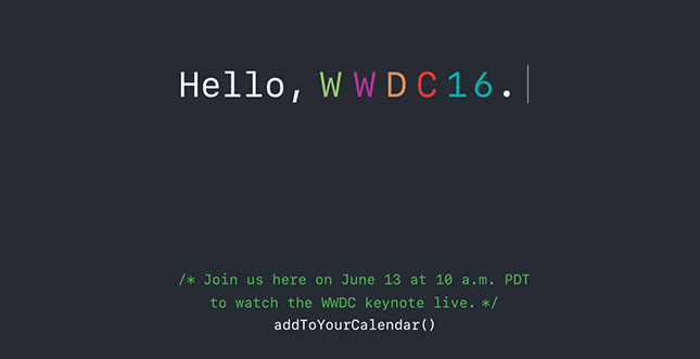 Apple ruft zur WWDC 2016 + Live Stream