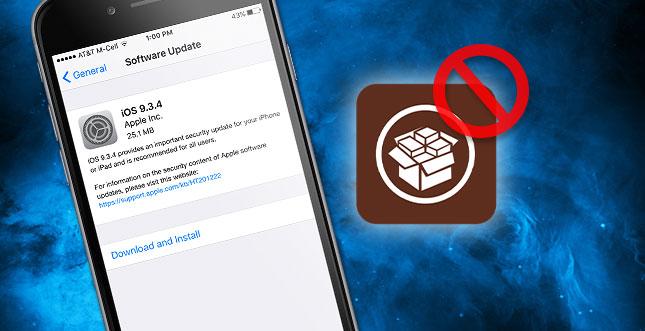 Apple macht Downgrade auf iOS 9.3.3 unmöglich