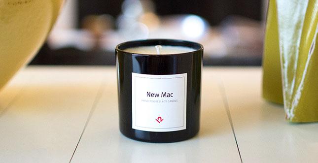 New Mac: Eine Kerze, die wie ein neuer Mac duftet