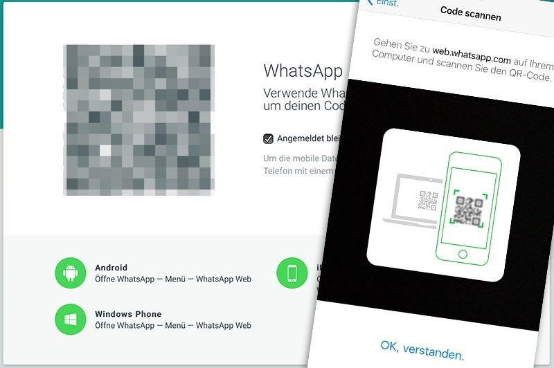 WhatsApp Browser auf iPad