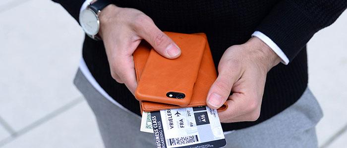Echtleder Backcover iPhone